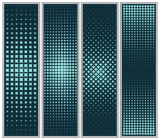 Halftone Diamond and Square Pattern Set vector