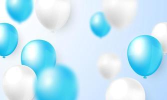 diseño de globo borroso azul y blanco
