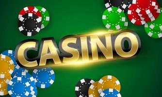 Banner for casinos decorated with beautiful coins vector