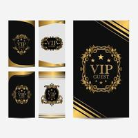 VIP premium luxury cards vector