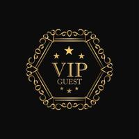 VIP premium luxury badge vector