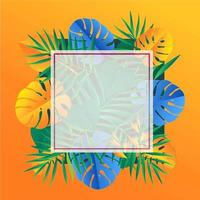 Tropical Floral Frame For Promotion or Sale vector