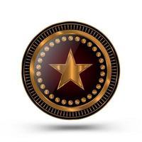 design de medalha de ouro estilo xerife