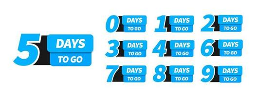 Countdown left days banner. vector