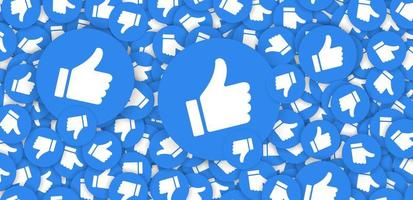Thumbs up or like icon design vector