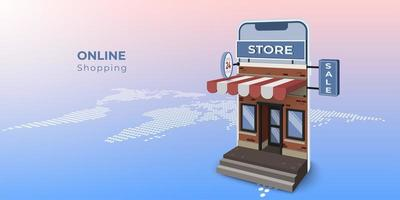 Mobile Isometric Building Storefront