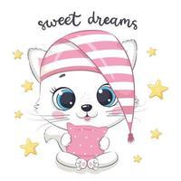 Cute baby cat  vector