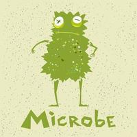Funny microbe in a cartoon style vector