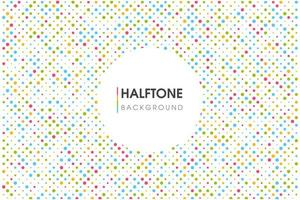 Colorful Halftone Circle Background  vector