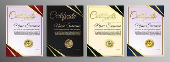 Creative certificate of appreciation award  vector
