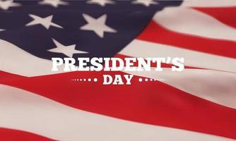 bandera de la bandera americana del día del presidente