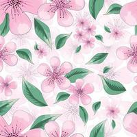mooi bloemmotief met fantasie bloemen