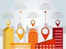 Flat design city infographic