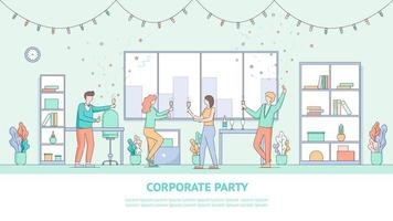 Corporate Employee Holiday Party Banner