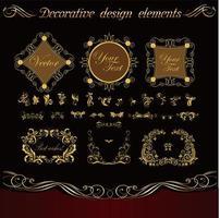Square decorative frame set  vector