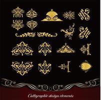 conjunto de elementos elegantes estilo vintage