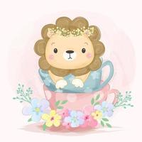 Lion in a cup  vector