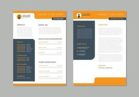 curriculum vitae naranja y carta de presentación
