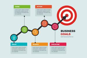 Infographics chat for goals  vector