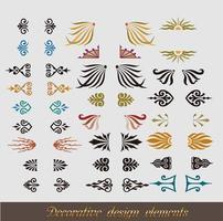 conjunto de florituras y elementos caligráficos vector