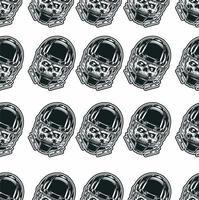 naadloze patroon schedel draagt racehelm