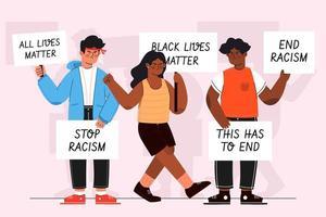 Black Lives Matter Protest vector