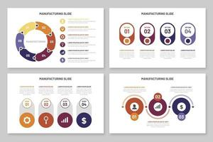 Infographics manufacturing template vector