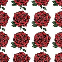 patrón transparente rosa roja brillante vector