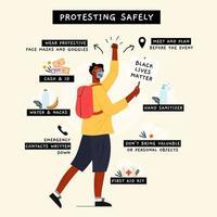 veilig protesteren infographic vector
