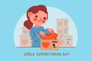 World humanitarian day with woman vector