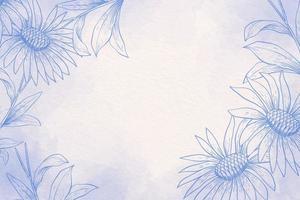 Puderpastell mit blauem und weißem Hintergrund