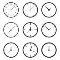 Clock vector isolated on background