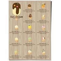 Menu template for Ice Cream Shop