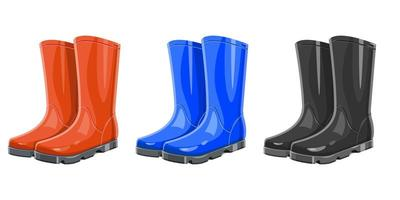 Rubber garden boots isolated on white background vector
