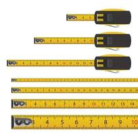 Tape measure isolated on white background vector