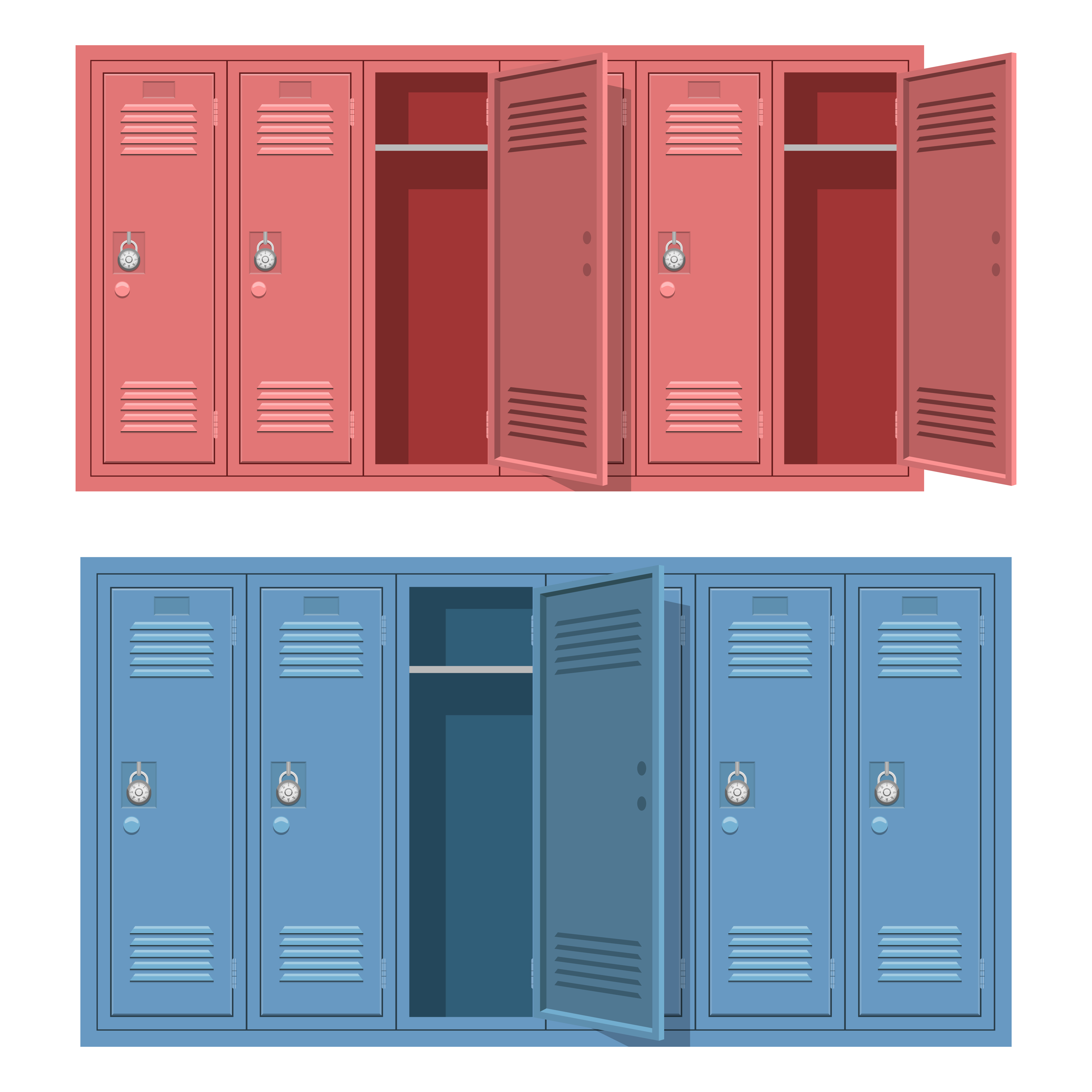 School Locker Isolated On White Background Download Free Vectors Clipart Graphics Vector Art