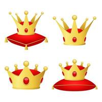 Golden crown isolated on white background vector