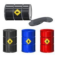 Barril de petróleo aislado sobre fondo blanco. vector