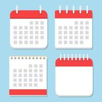 Calendar icon isolated on blue background