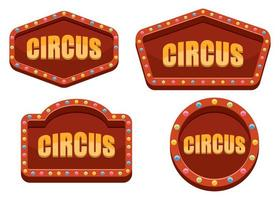 Circus sign isolated on white background vector