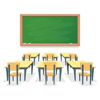 Classroom isolated on white background