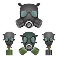 Gas mask isolated on white background