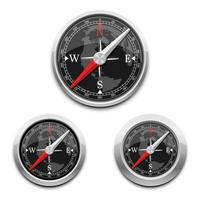 Magnetic compass isolated on background vector