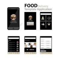 Mobile japanese food delivery app vector