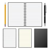 Realistic notebook isolated on white background vector