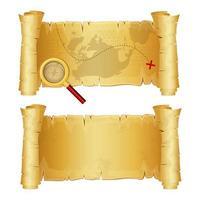Mapa del tesoro aislado sobre fondo blanco.