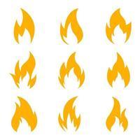 set di icone di fuoco isolato su sfondo bianco