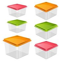 Food container set isolated on white background
