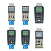 Pos machine isolated on white background vector