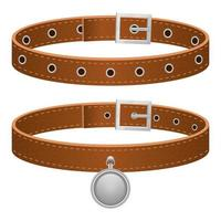 Dog leather leash isolated on white background vector